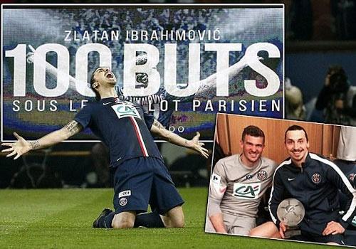 Ibra mung moc 100 ban cho PSG trong tran lap hat-trick hinh anh