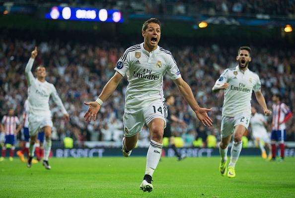 Ronaldo va Chicharito giup Real loai Atletico o tu ket hinh anh