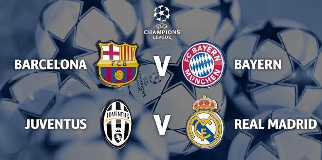 Ban ket Champions League: Barca dung Bayern, Juve gap Real hinh anh 1