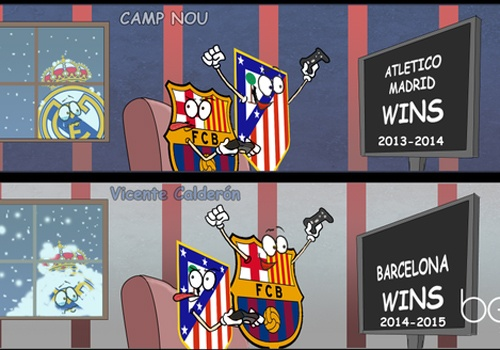 Anh vui Barcelona vo dich La Liga, huong toi cu an ba hinh anh
