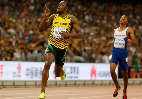 Usain Bolt doat HCV noi dung chay 200 m the gioi hinh anh