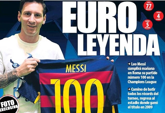 Lionel Messi san sang cho cot moc 100 o Champions League hinh anh 1