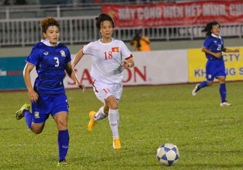 Ha Thai Lan 2-0, tuyen nu VN vao vong loai cuoi Olympic 2016 hinh anh