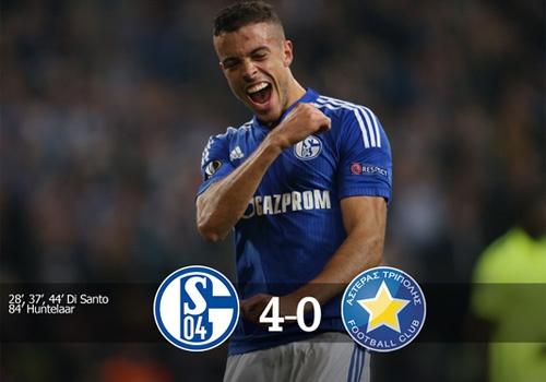 Huntelaar giup Schalke thang 4-0 o Europa League hinh anh
