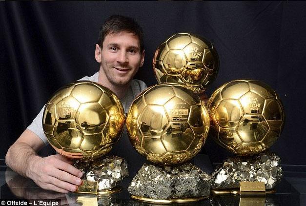 Messi duoc chon la cau thu xuat sac moi thoi dai hinh anh 1