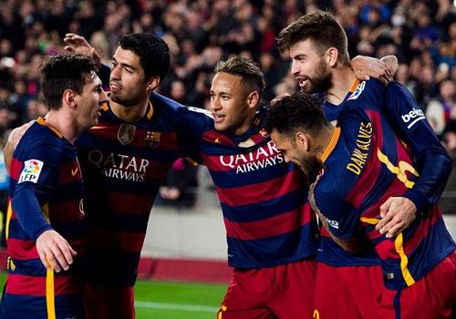 Suarez va Neymar dua Barca vao ban ket cup nha Vua hinh anh