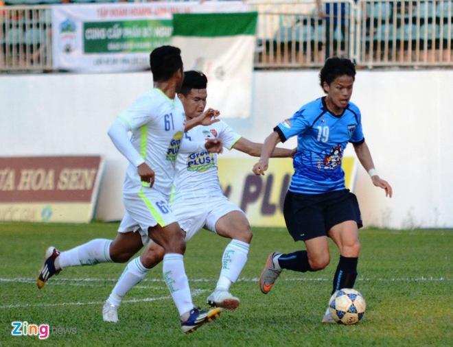 Tuan Anh da tran ra mat, Yokohama thang HAGL 1-0 hinh anh 1
