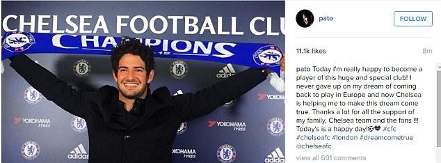 Pato hanh phuc khi ra mat o Chelsea hinh anh 4