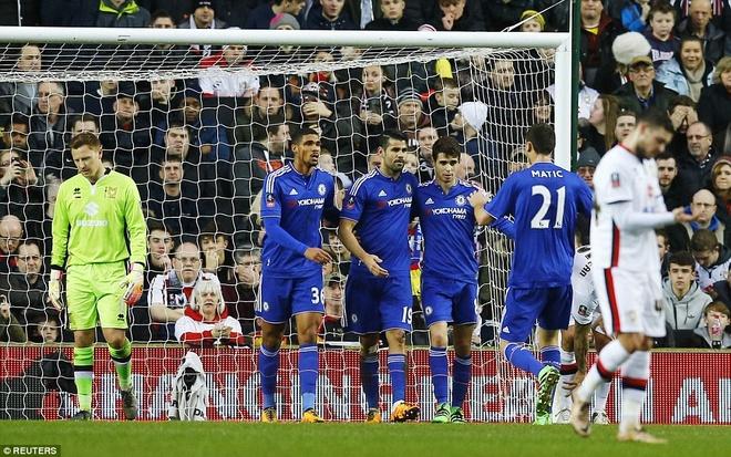 Oscar ghi 3 ban, Chelsea vao vong 5 cup FA hinh anh 2