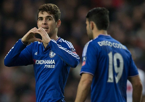 Oscar ghi 3 ban, Chelsea vao vong 5 cup FA hinh anh