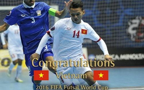 FIFA chuc mung DT futsal Viet Nam gianh ve World Cup hinh anh