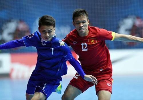 DT futsal VN thua Thai Lan 0-8 o tran tranh HCD chau A hinh anh