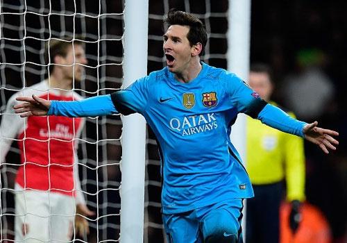 Messi giup Barca thang Arsenal 2-0, Juve hoa Bayern 2-2 hinh anh