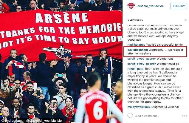 David Beckham chi trich CDV Arsenal. anh 2