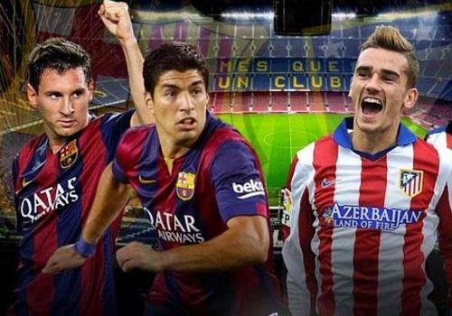 Barcelona cham tran Atletico, Real gap Wolfsburg hinh anh