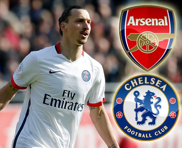 Arsenal va Chelsea co co hoi so huu Ibrahimovic hinh anh 1