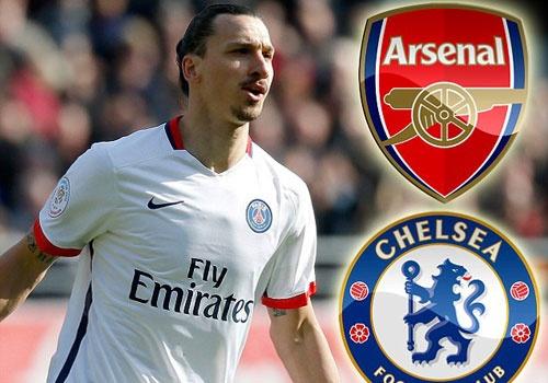 Arsenal va Chelsea co co hoi so huu Ibrahimovic hinh anh