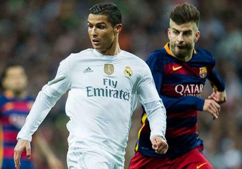 Gerard Pique,  Lionel Messi,  Barcelona,  Real Madrid anh 1