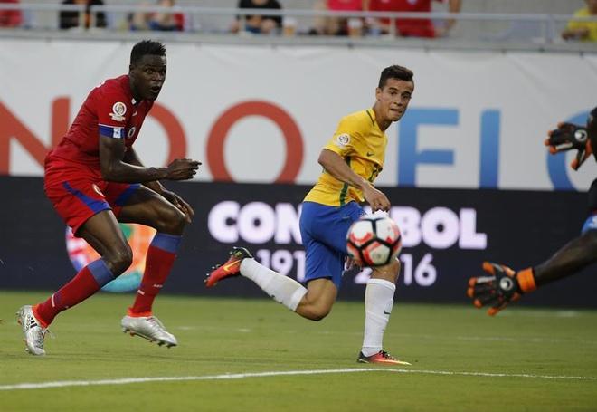 Brazil vs Haiti (7-1): Coutinho lap hat-trick hinh anh 14