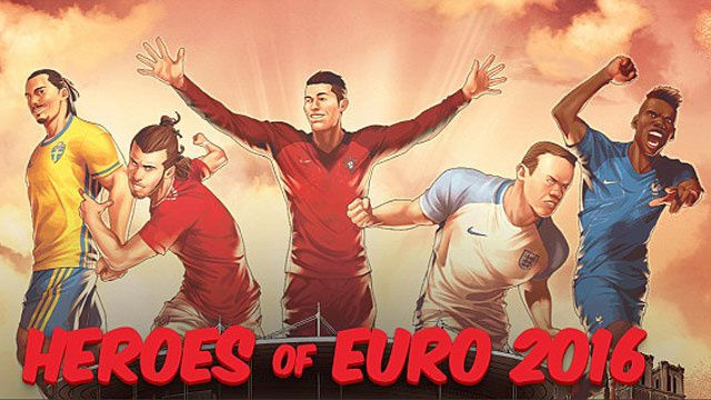Ronaldo, Rooney, Bale thanh sieu anh hung Euro hinh anh