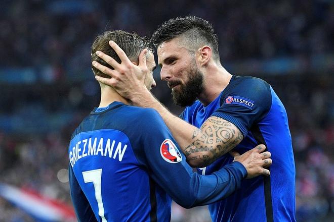 Giroud - Griezmann, cap song sat moi cua Les Bleus hinh anh