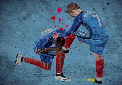 Do hoa ban thang cua Griezmann truoc chung ket Euro 2016 hinh anh