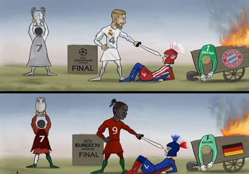 Biem hoa Ronaldo nang cup 2 lan truoc mat Griezmann hinh anh