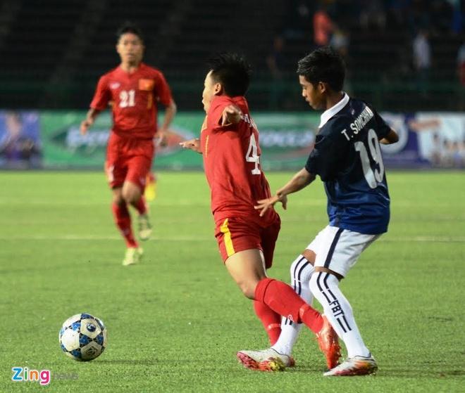 Tran U16 Campuchia vs U16 Viet Nam anh 7