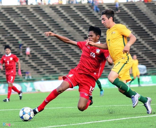 Tran U16 Campuchia vs U16 Viet Nam anh 2