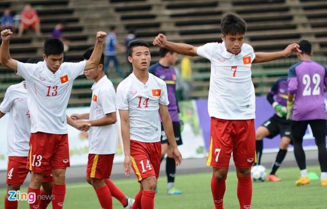 Tran U16 Campuchia vs U16 Viet Nam anh 5