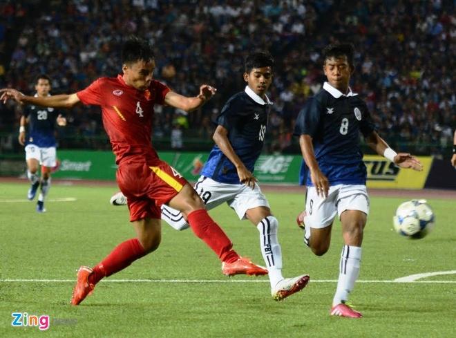 Tran U16 Campuchia vs U16 Viet Nam anh 6