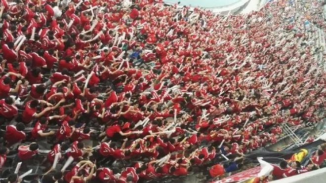 Fan MU Trung Quoc nhuom do khan dai o tran gap Dortmund hinh anh 1