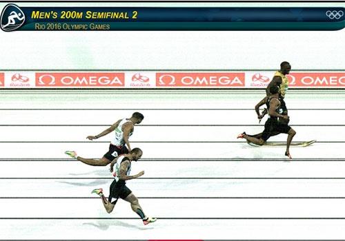 Usain Bolt vao chung ket 200 m anh 1