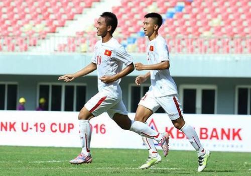Danh roi chien thang truoc Myanmar, U19 VN van dan dau bang hinh anh 4