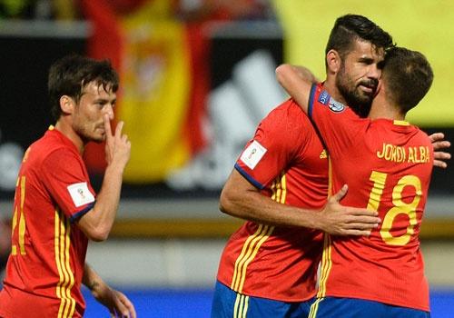 Diego Costa lap cu dup, DT Tay Ban Nha co tran thang 8-0 hinh anh