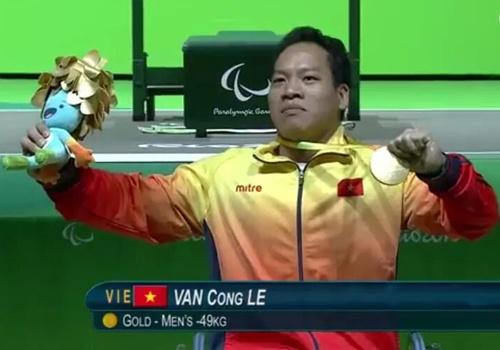 Video Le Van Cong gianh HCV Paralympics, pha ky luc the gioi hinh anh