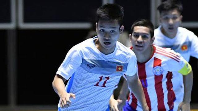 Futsal VN 1-7 Paraguay: Van Vu ghi ban dep mat cuoi tran hinh anh