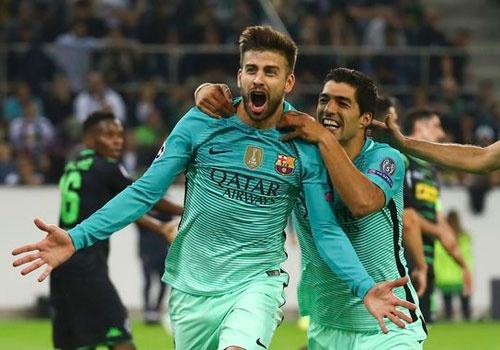Barca thang nguoc 2-1, Man City hoa Celtic 3-3 hinh anh