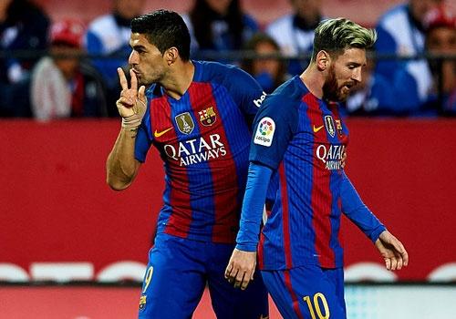 Messi va Suarez giup Barca thang nguoc Sevilla 2-1 hinh anh