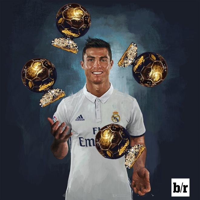 Cristiano Ronaldo khoe anh gianh Qua bong vang 2016 hinh anh 3