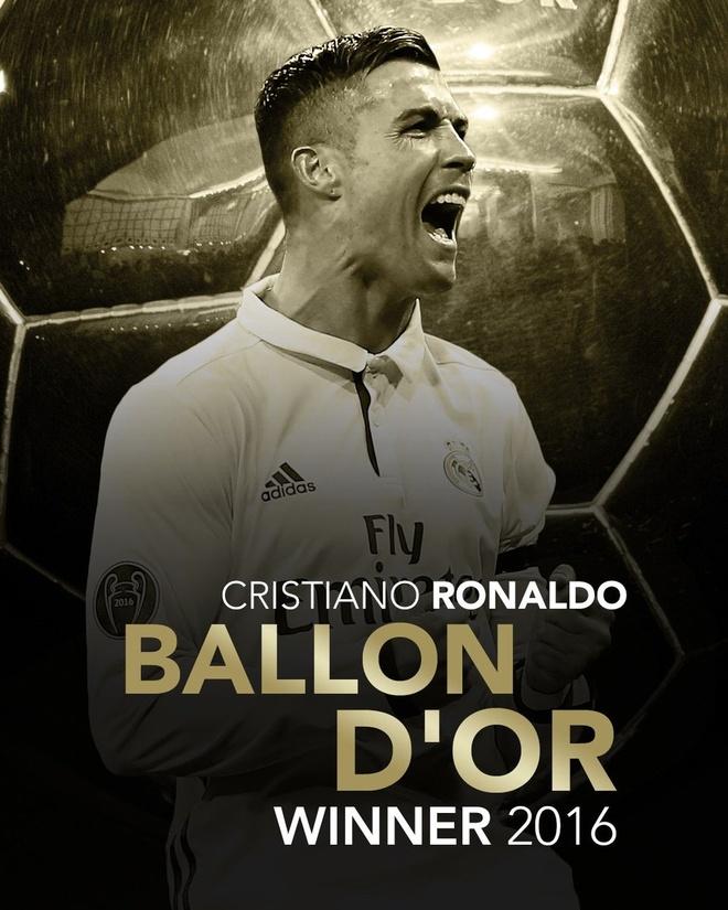 Cristiano Ronaldo khoe anh gianh Qua bong vang 2016 hinh anh 4
