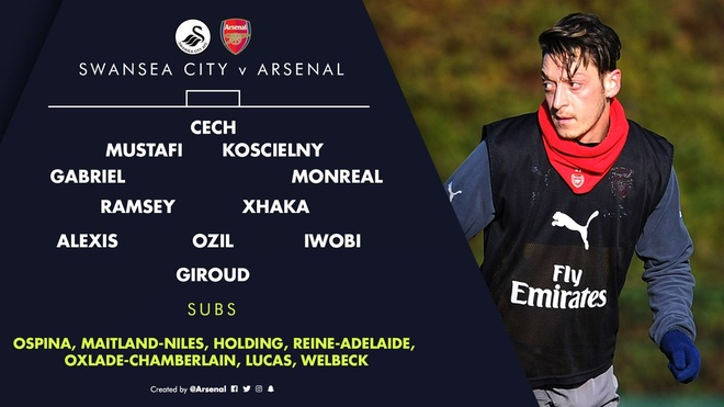 Giroud va Sanchez ghi ban, Arsenal thang Swansea 4-0 hinh anh 6