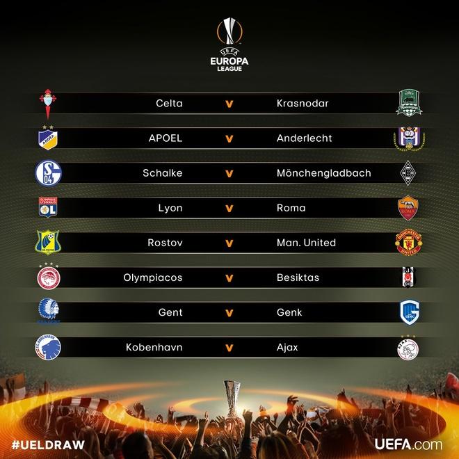 Vong 1/8 Europa League: MU gap doi thu hang 93 chau Au hinh anh 1