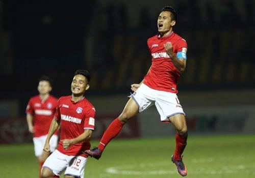 CLB SLNA thang Da Nang 2-1, Quang Ninh ha CLB Sai Gon 3-0 hinh anh