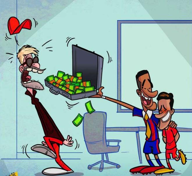 Hi hoa Neymar muon dua Coutinho ve Barca anh 1