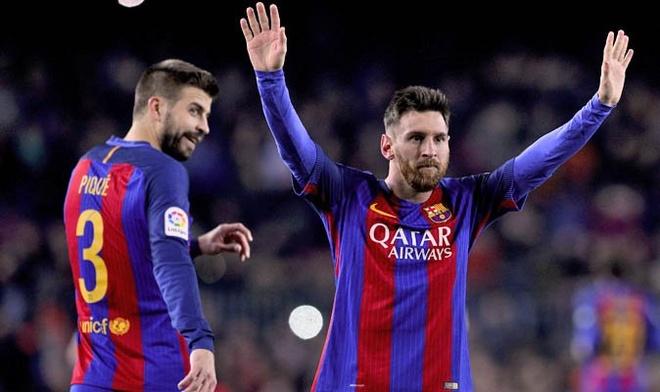 Gerard Pique tuc gian khi Messi bi cam 4 tran hinh anh 1