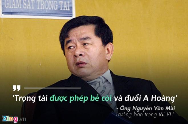 Ong Mui: 'Cau thu HAGL khong duoc xoa the' hinh anh 1