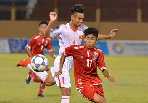 U19 Viet Nam vs U19 Myanmar (2-1): Chien thang vat va phut bu gio hinh anh