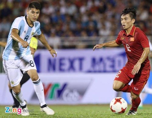 U20 Viet Nam thua 1-4 truoc U20 Argentina anh 1
