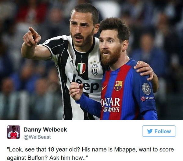Messi duoc khuyen hoc Mbappe cach danh bai Buffon hinh anh 1